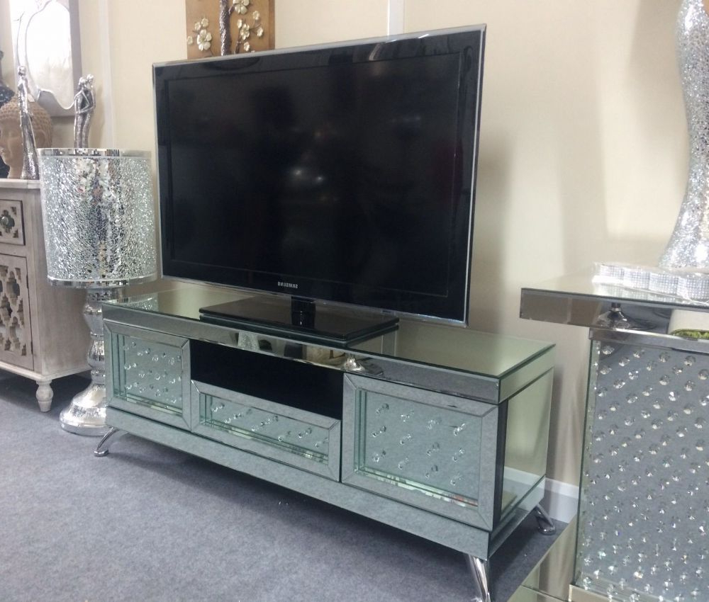 Newest Mirror Tv Cabinets Intended For This Stunning Mirrored Tv Cabinet Is A Brand New And Exclusive Piece (Gallery 8 of 20)