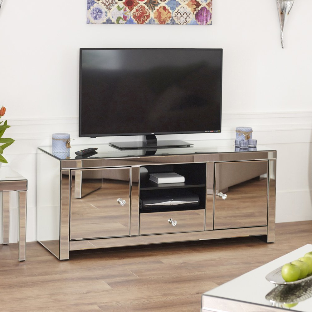 Newest Mirror Tv Stand Ideas (View 5 of 20)