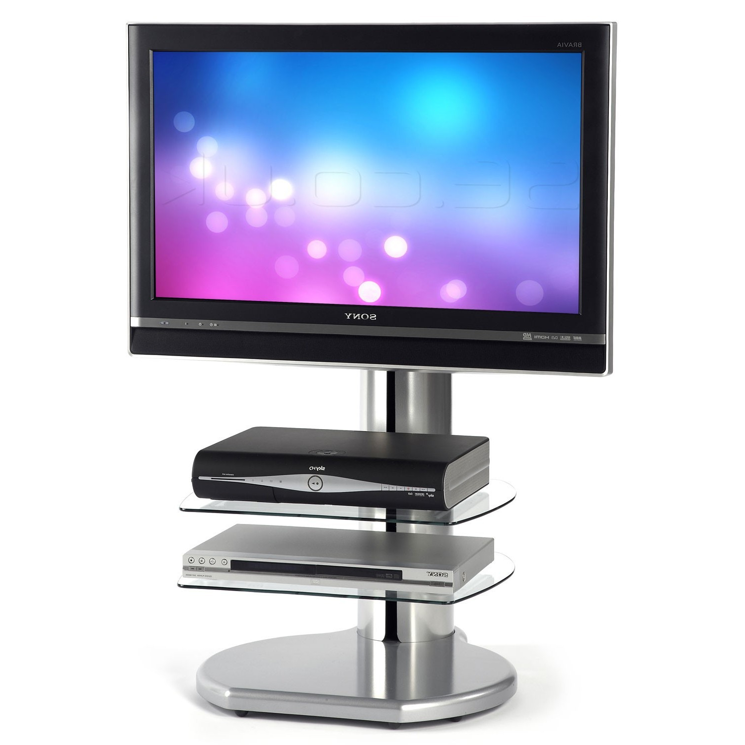Newest Off The Wall (uk) Ltd Ori S3 Sil Origin Flat Panel Floor Tv Stand Pertaining To Off Wall Tv Stands (View 17 of 20)