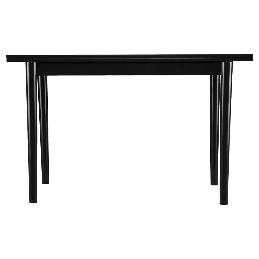 Newest Parsons Clear Glass Top & Elm Base 48X16 Console Tables With Regard To Caplow Flip Top Convertible Console To Dining Table – Black – Aiden (View 6 of 20)