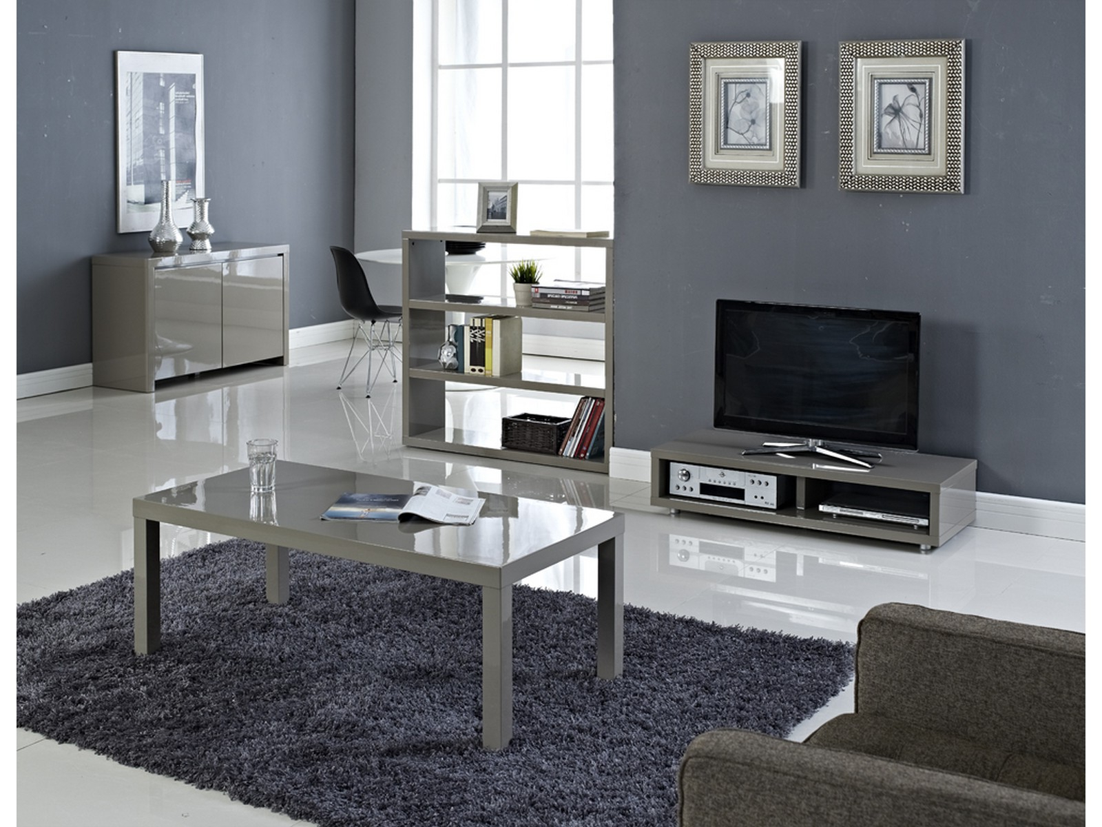 Newest Puro High Gloss Living Room Furniture – Tables Storage Tv Stand Pertaining To Cream Gloss Tv Stands (View 16 of 20)