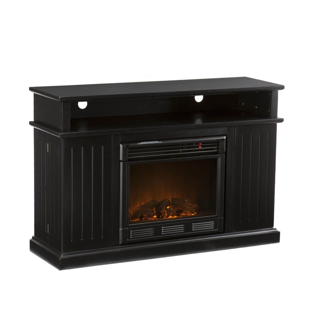 Newest Solid Wood Black Tv Stands In Furniture: Affordable Black Tv Stand Furniture With Shaker Style (View 19 of 20)