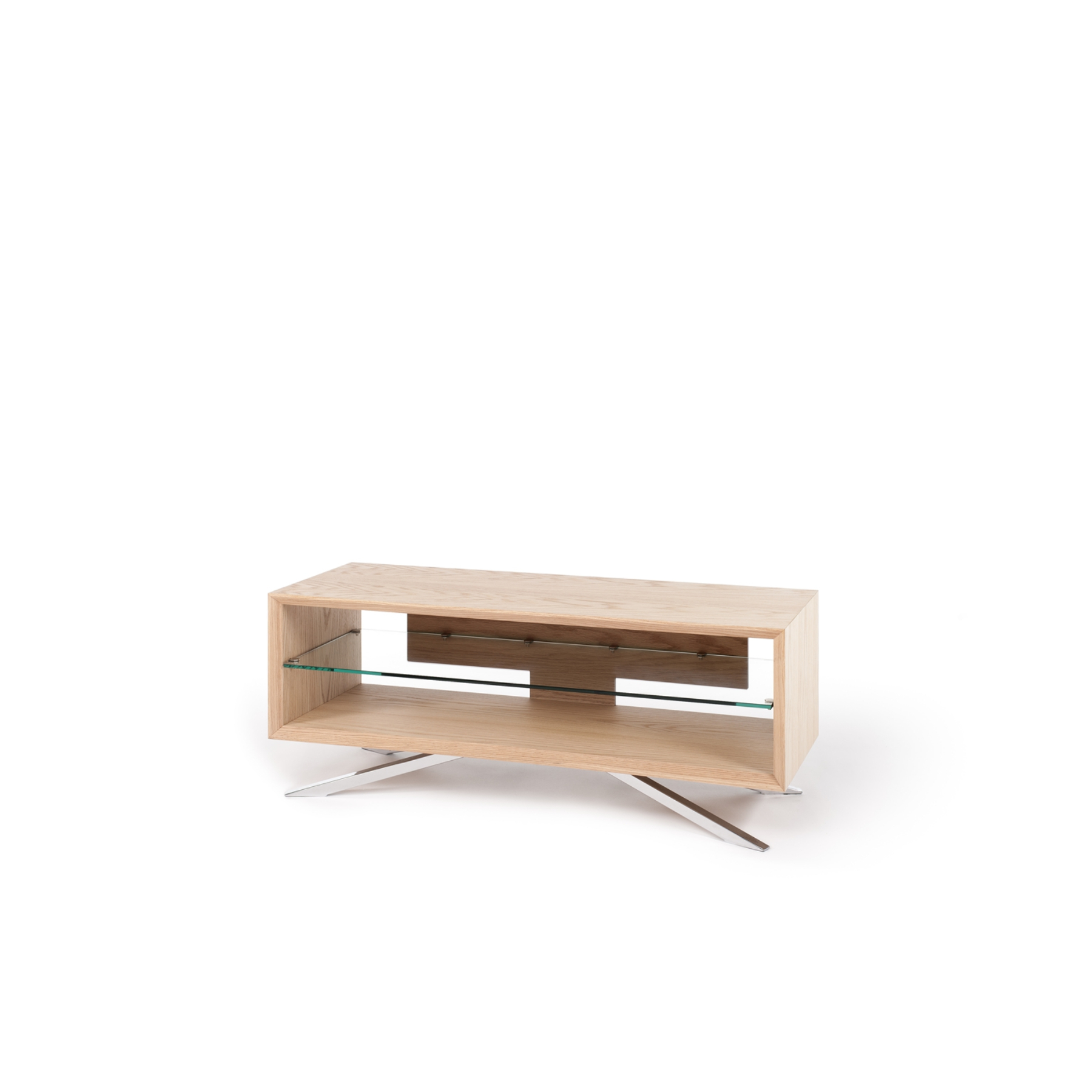 """Newest Techlink Arena Tv Stands Pertaining To Techlink Arena Aa110Lw For Up To 55"""" Tvs Clear Glass Tv Stand In (Gallery 19 of 20)"""