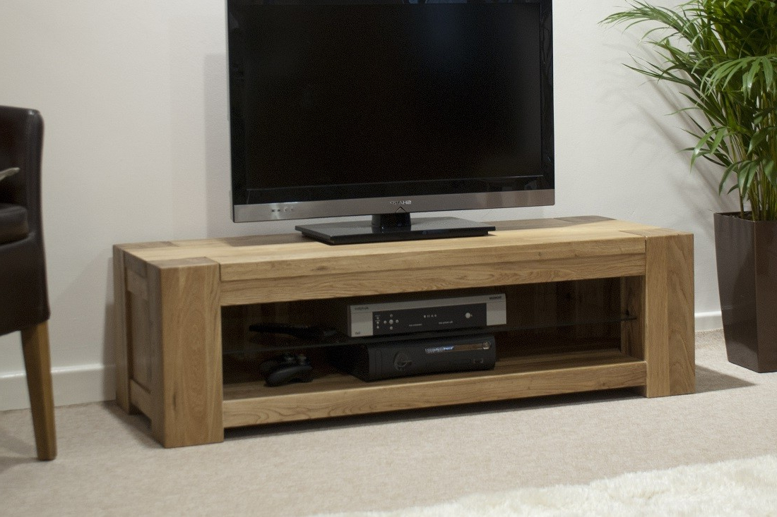 Newest Trend Solid Oak Plasma Tv Unit (Gallery 5 of 20)