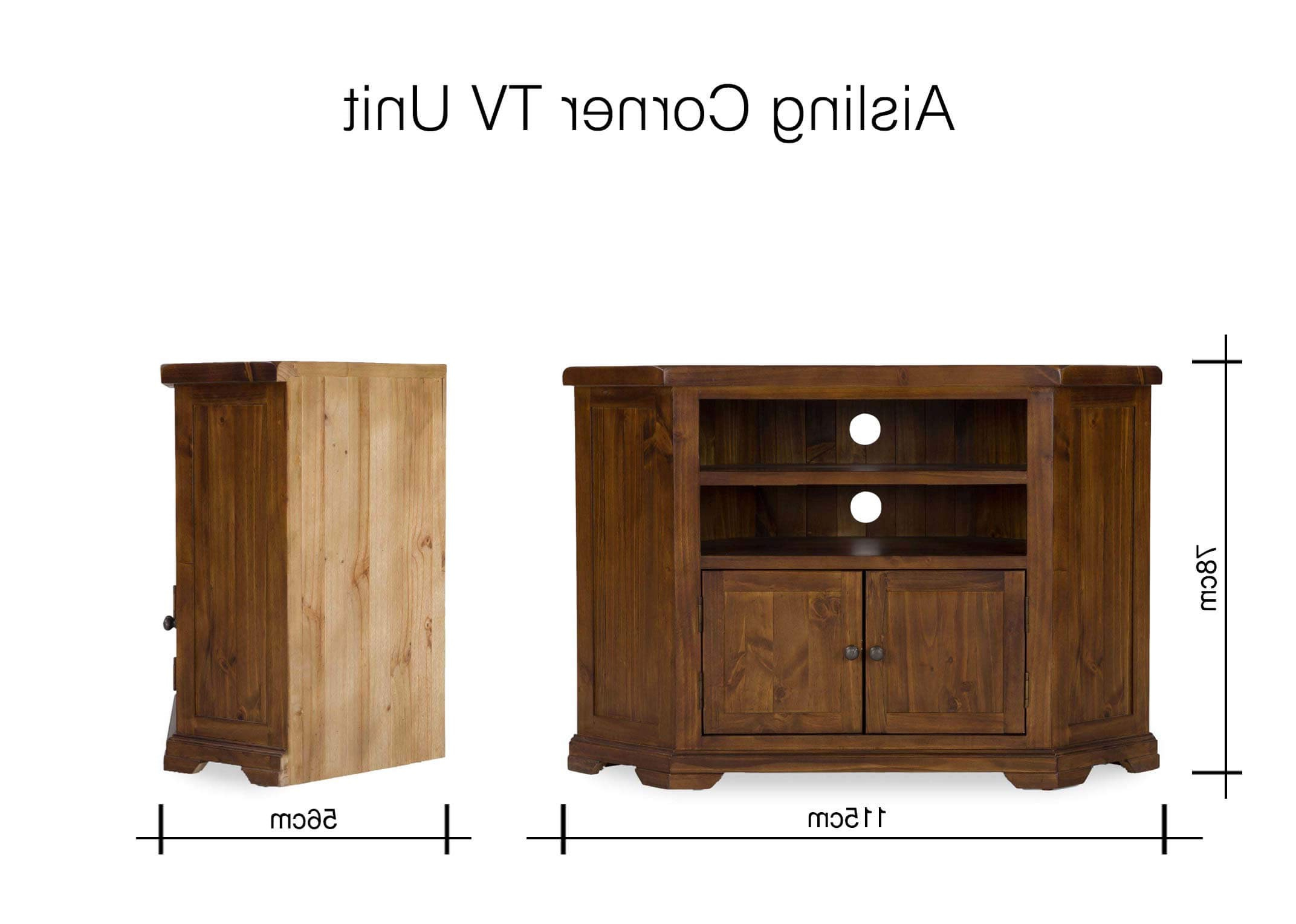 Newest Tv Cabinets Corner Units Within Corner Tv Unit With Storage – Aisling – Ez Living Furniture (View 16 of 20)
