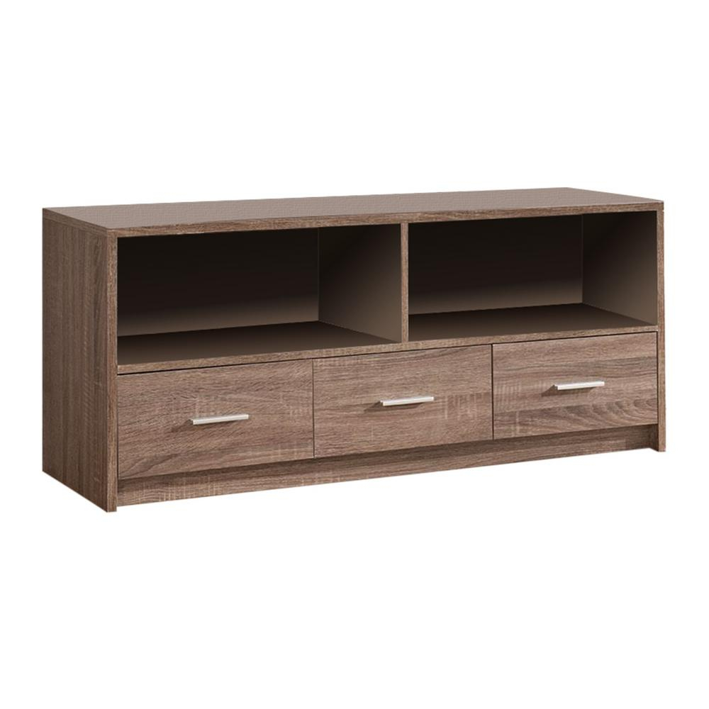 Newest Tv Stands With Drawers And Shelves Intended For Kings Brand Furniture Grey Wood Tv Stand With Drawers 3401e – The (Gallery 12 of 20)