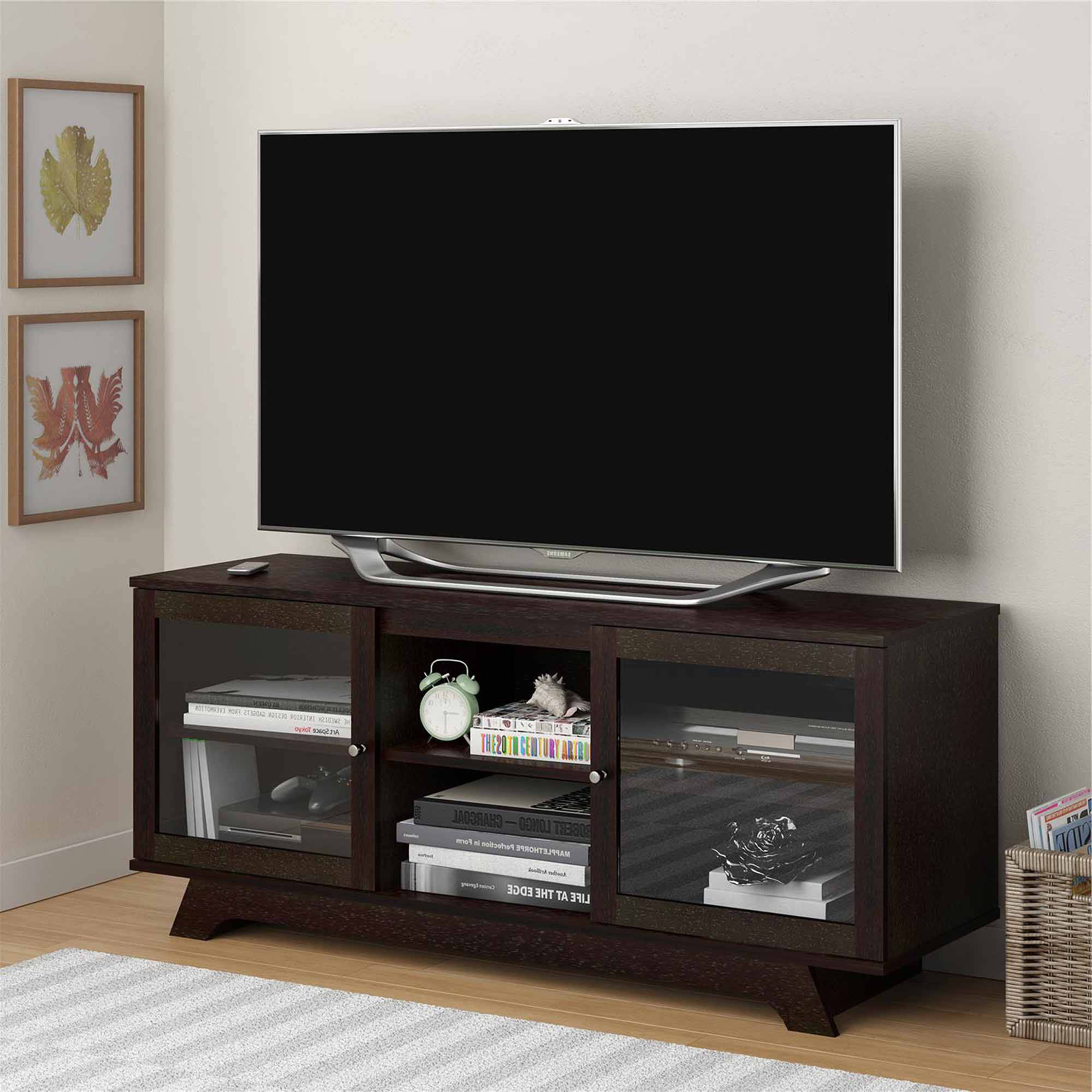 "Newest Tv With Stands Throughout Sauder Harvest Mill Panel Tv Stand For Tvs Up To 42"", Abbey Oak (Gallery 11 of 20)"