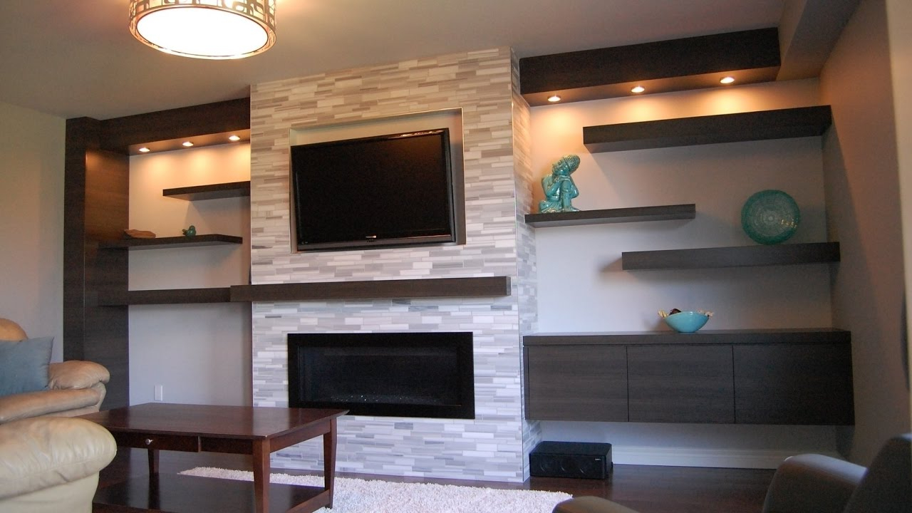 Newest Wall Mounted Tv Shelves – Youtube Intended For Shelves For Tvs On The Wall (View 14 of 20)