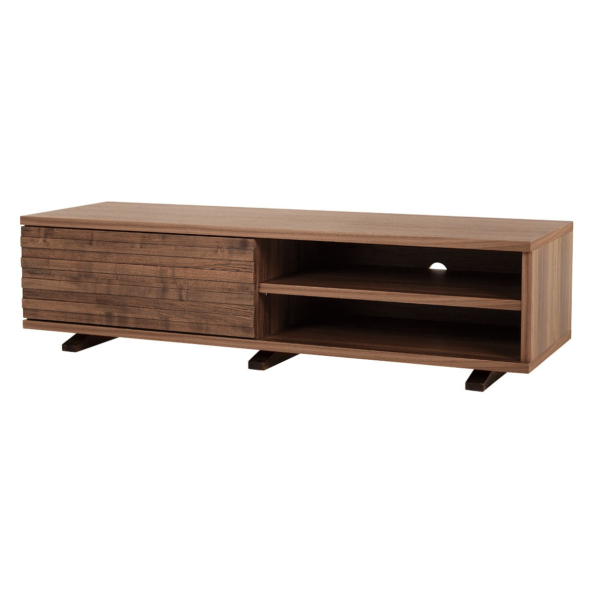 Newest Walnut Tv Stands Throughout Enzo Walnut Tv Stand With One Storage Drawer (Gallery 1 of 20)