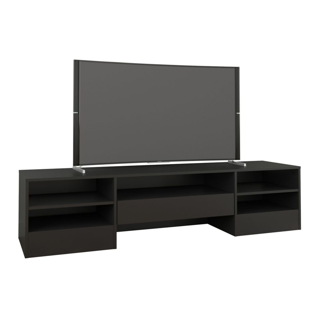Nexera Rustik 72 Inch Tv Stand With 1 Drawer, Black (View 12 of 20)
