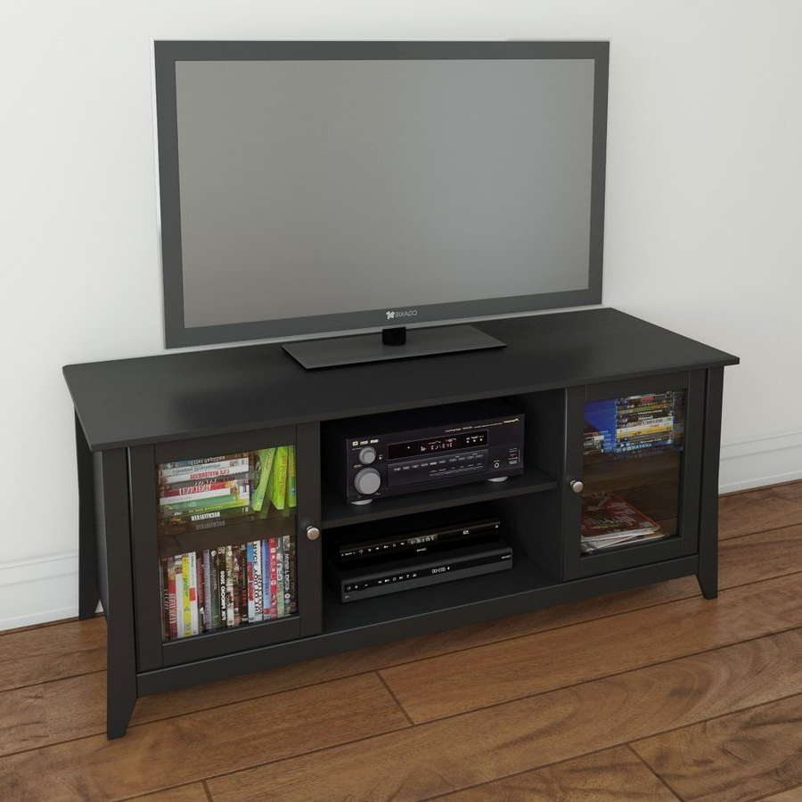 Nexera Tuxedo Black Tv Cabinet At Lowes In Fashionable Hokku Tv Stands (Gallery 18 of 20)
