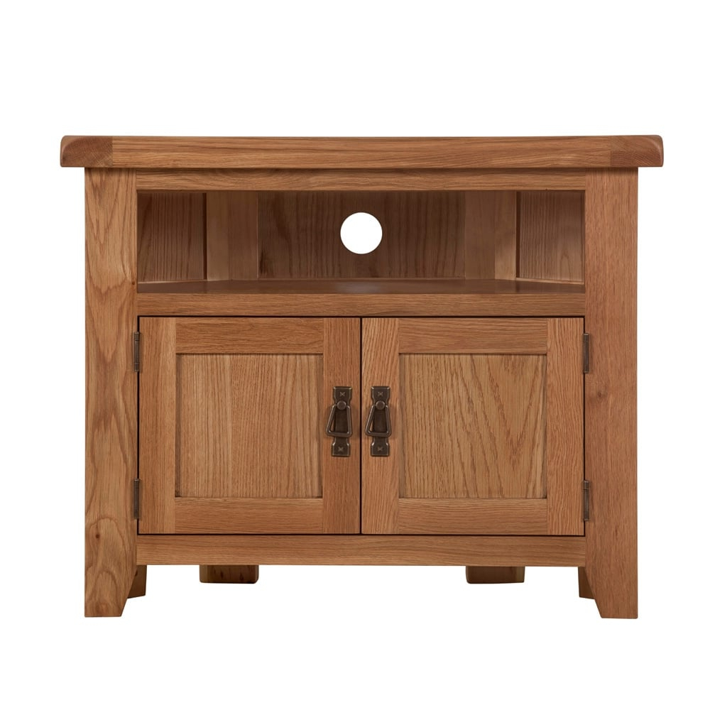 Oak Corner Tv Cabinet In Well Liked Wooden Corner Tv Units (View 11 of 20)