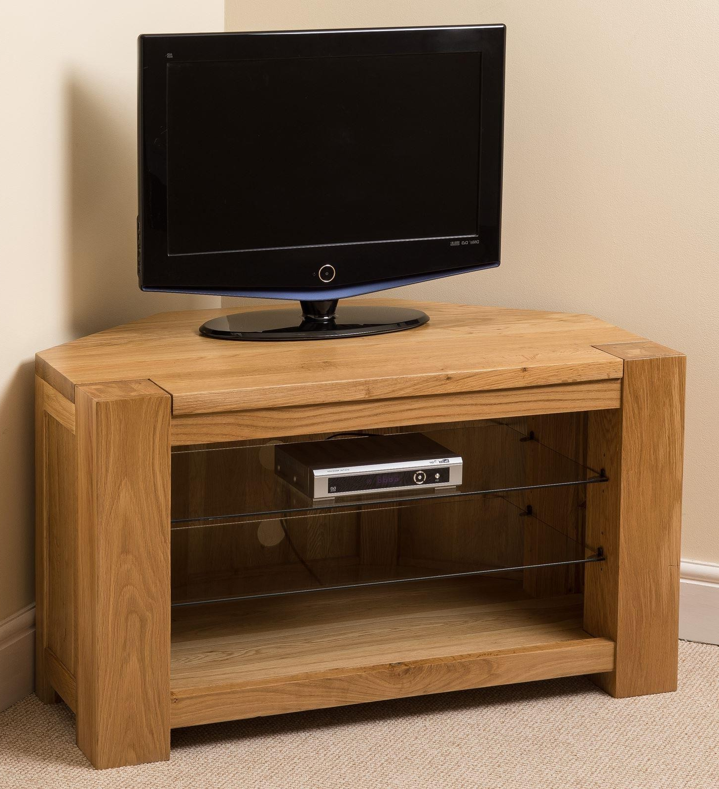 Oak Corner Tv Stands Within 2017 Kuba Solid Oak Corner Tv Unit (View 13 of 20)
