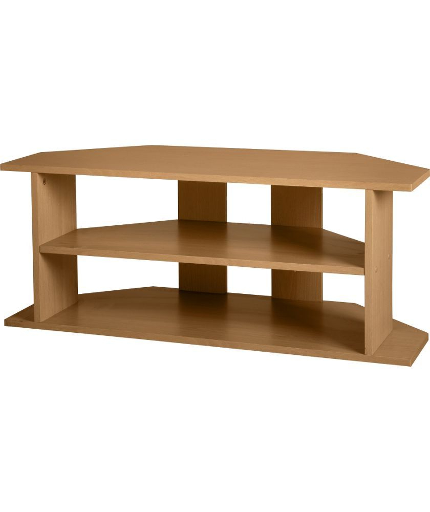 Oak Effect Corner Tv Stand Within Most Recent Buy Large Corner Tv Unit – Oak Effect At Argos.co (View 14 of 20)