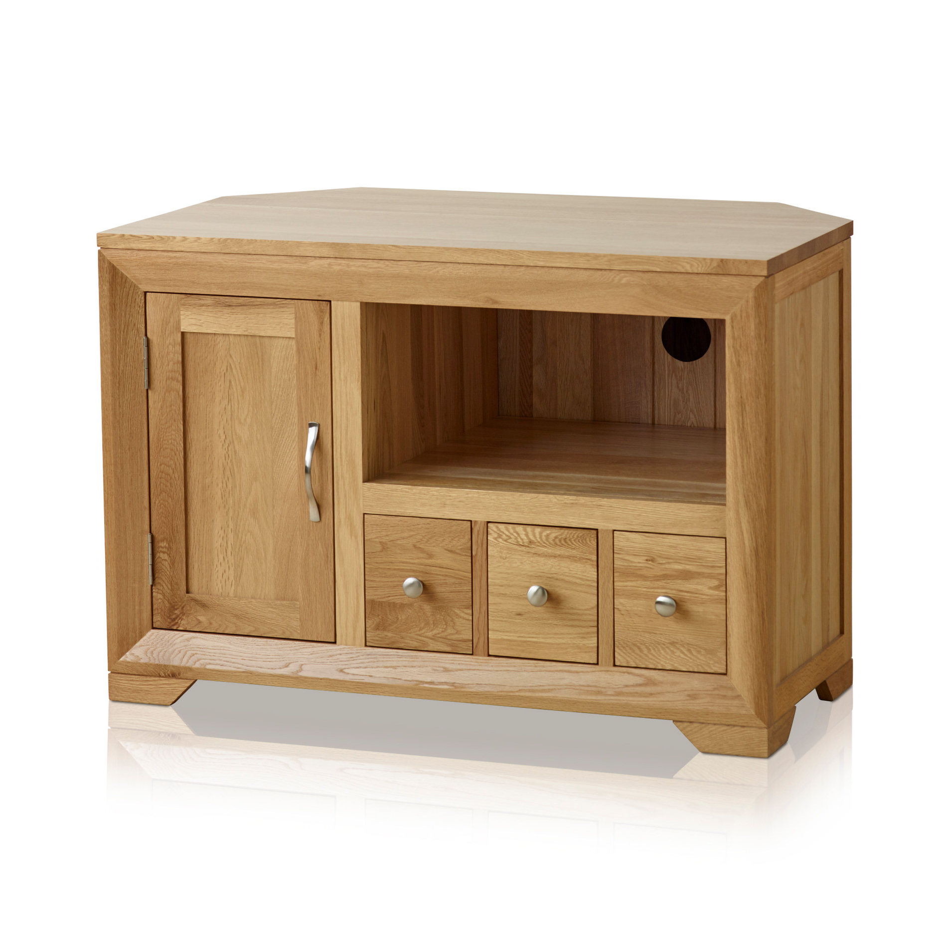 Oak Furniture Land In Corner Tv Cabinets (View 16 of 20)
