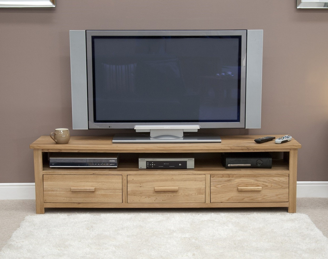 Oak Furniture Uk Pertaining To Popular Wide Oak Tv Units (Gallery 8 of 20)