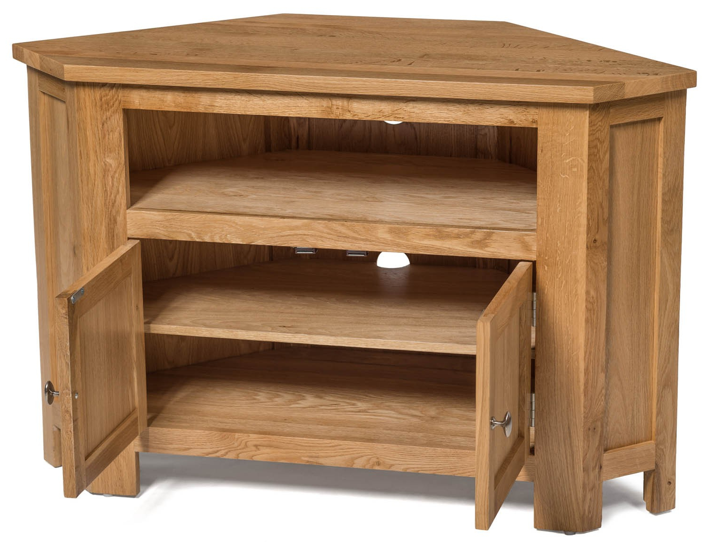 Oak Tv Cabinets With Doors With Regard To Most Recently Released Waverly Oak 2 Door Corner Tv Stand Unit (Gallery 14 of 20)