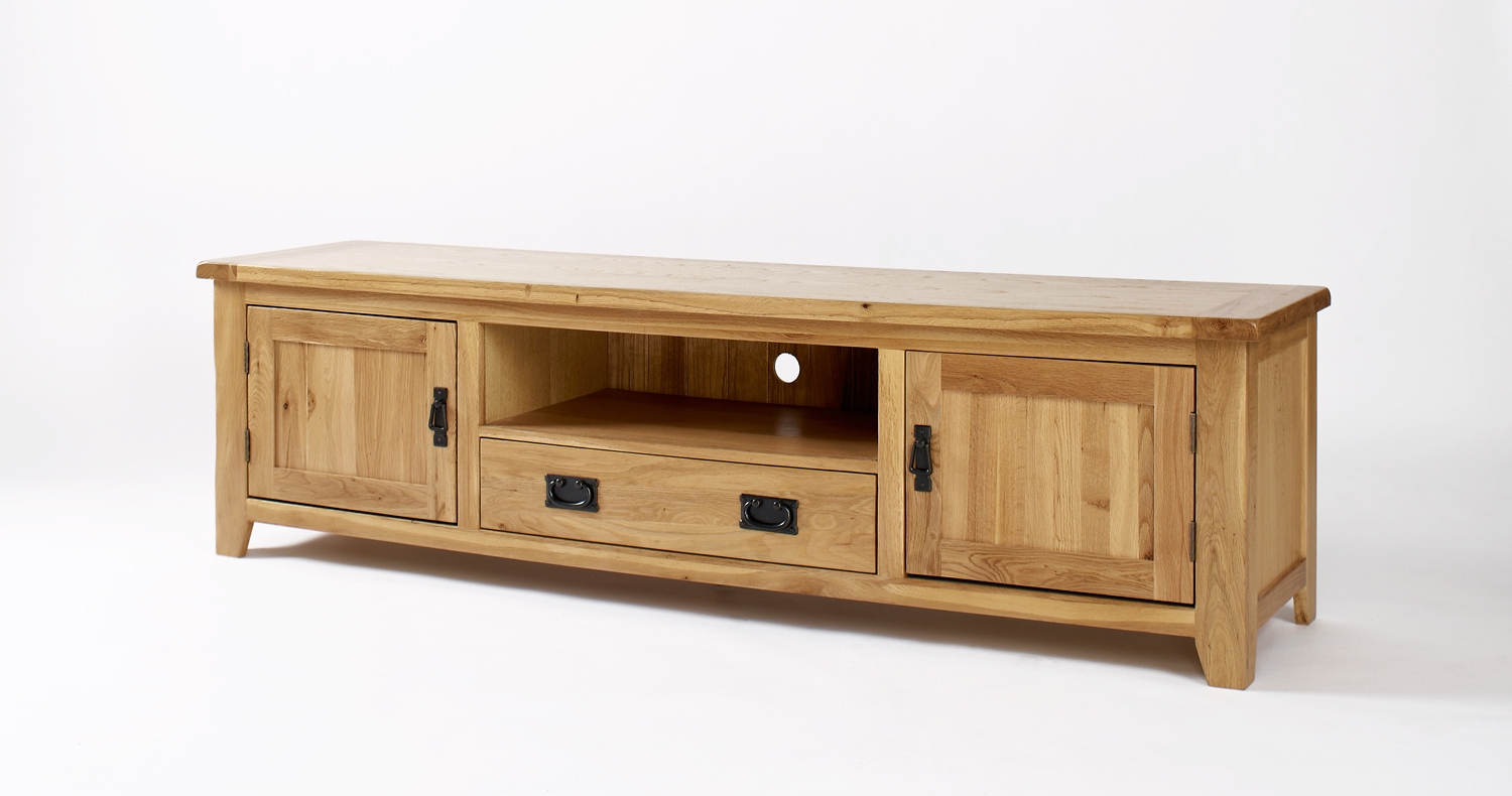 Oak Tv Cabinets With Doors With Regard To Most Up To Date Oak Tv Cabinets Uk (Gallery 8 of 20)