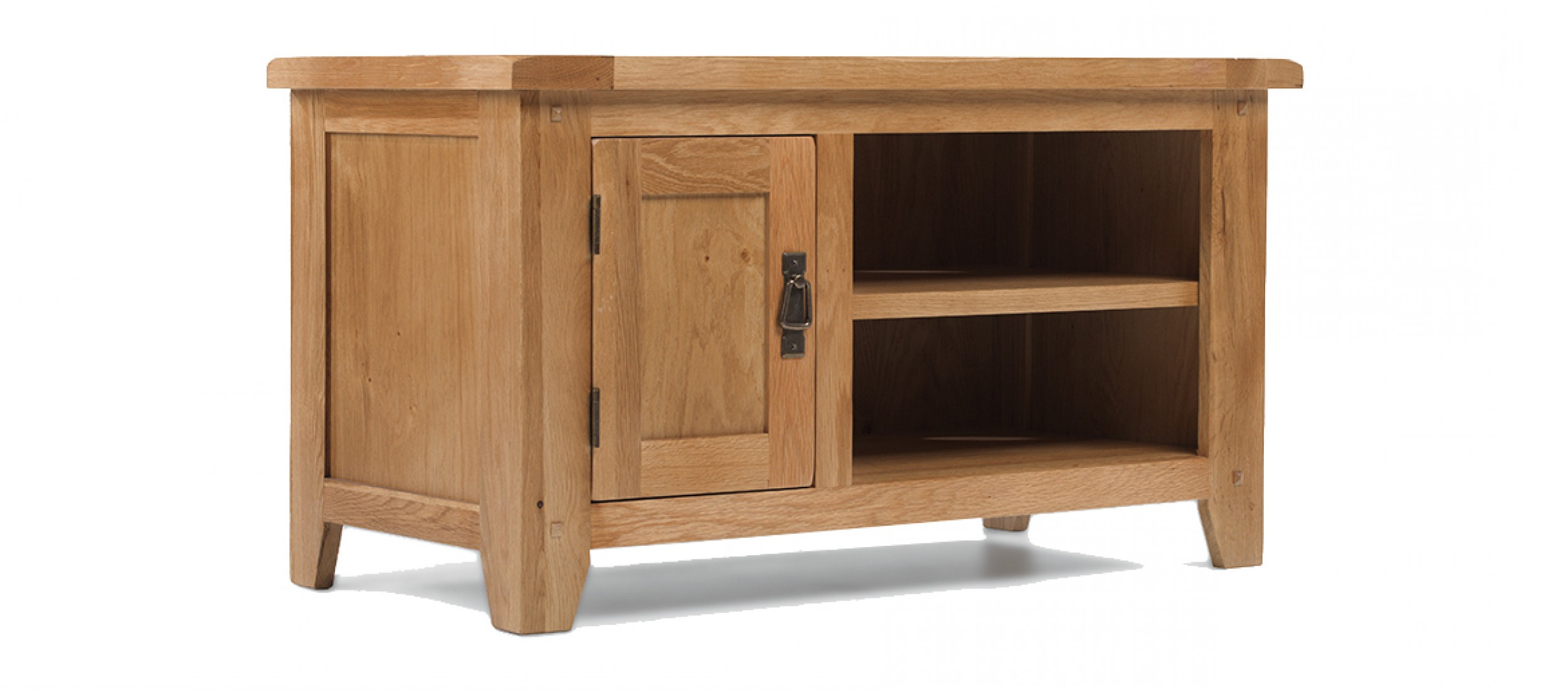 Oak Tv Cabinets With Doors Within Well Known Rustic Oak Tv Unit (Gallery 9 of 20)