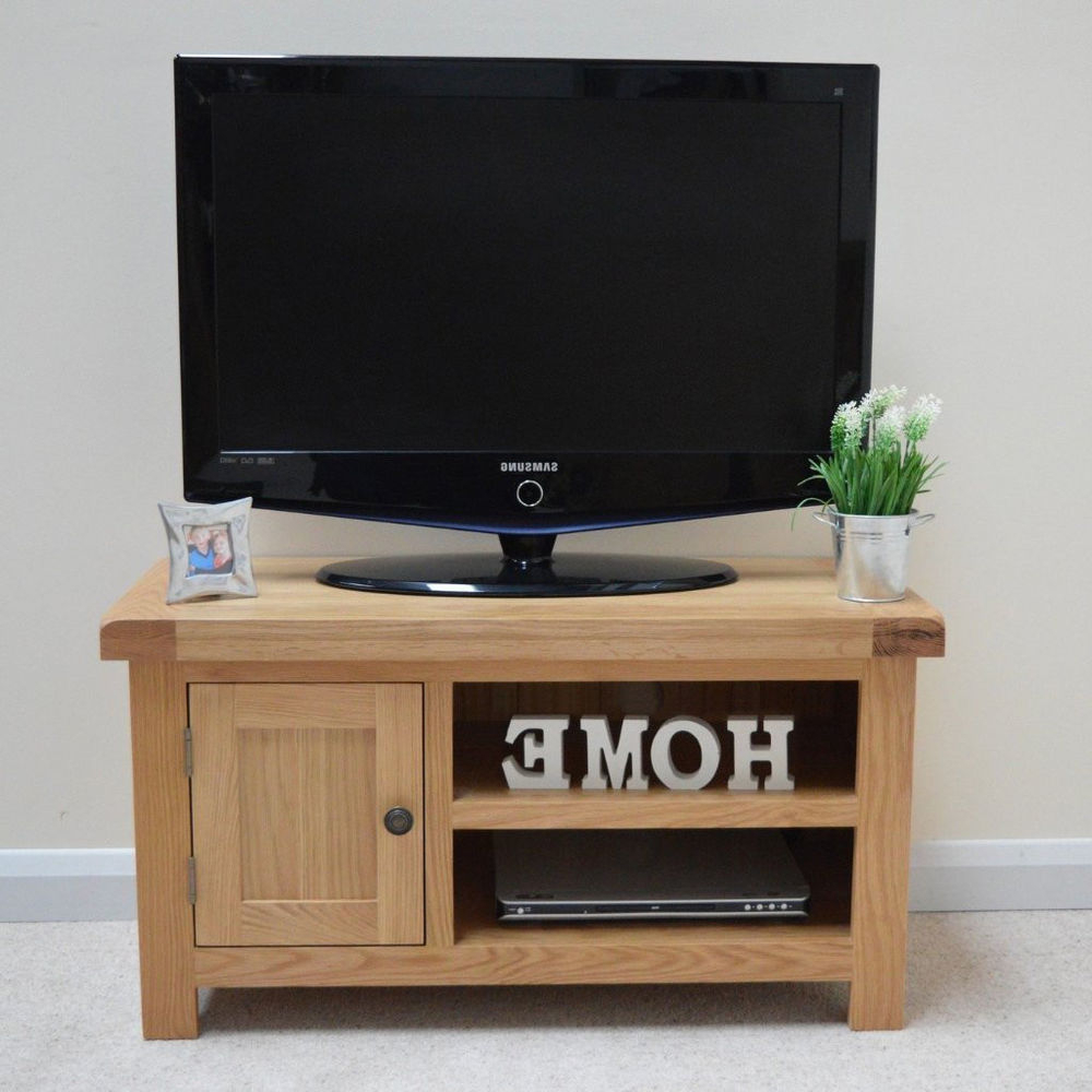 Oak Tv Stand / Oak Plasma Tv Unit / New / Solid Wood / Chunky Top Throughout Most Recently Released Chunky Wood Tv Units (Gallery 17 of 20)