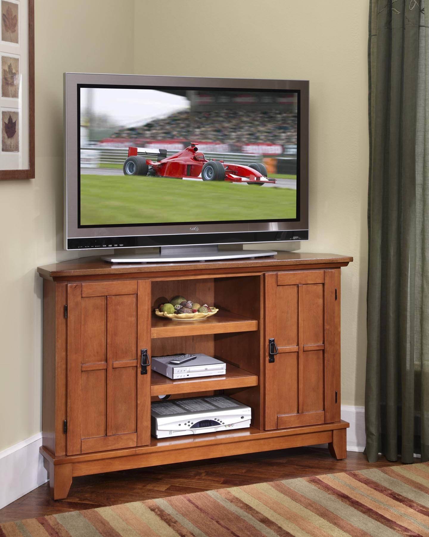 Oak Tv Stand Walmart Solid Wood Stands For Flat Screens Light Within Well Known Cheap Oak Tv Stands (View 2 of 20)