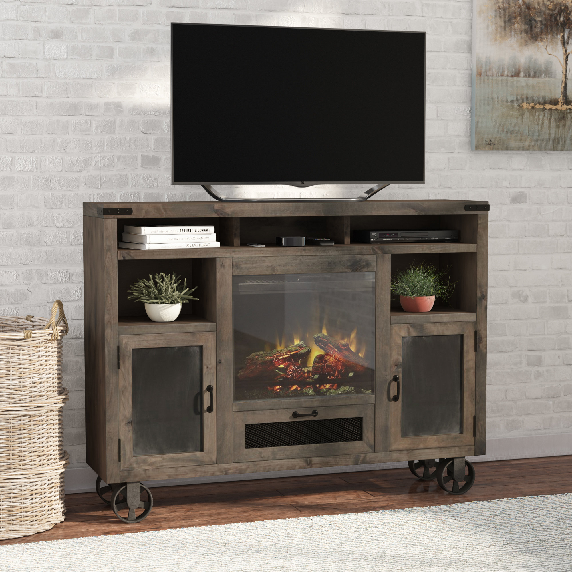 Oak Tv Stands For Flat Screens Inside Most Current Tall Tv Stands You'll Love (Gallery 17 of 20)