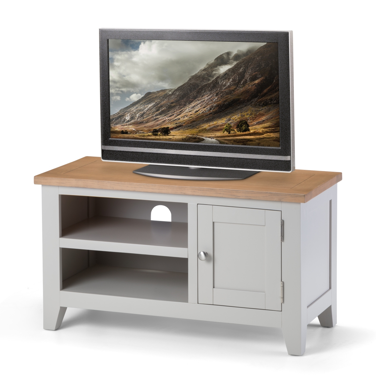 Oak Tv Stands Intended For Most Popular Tv Stand – Richmond Tv Unit Ric207 Grey And Oak Tv Unit (View 15 of 20)