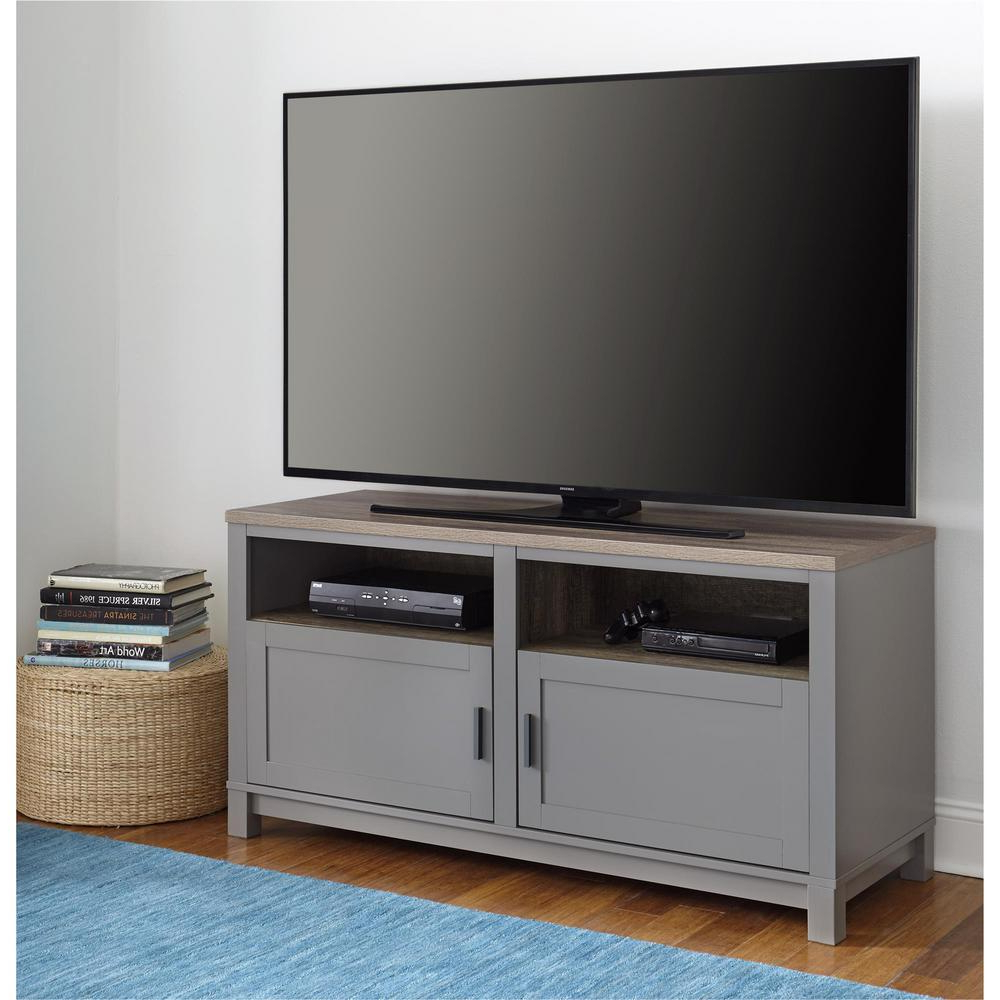 Oak Tv Stands Regarding Trendy Ameriwood 60 In. Viola Gray/sonoma Oak Tv Stand Hd28434 – The Home Depot (Gallery 4 of 20)