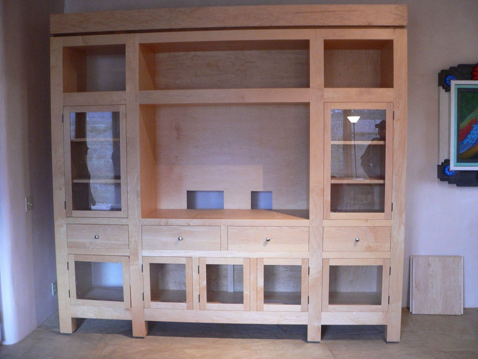Oak Tv Stands With Glass Doors Pertaining To Well Known Luxury Tv Stand With Glass Cabinet Door And Corner Shelves Tv (View 20 of 20)