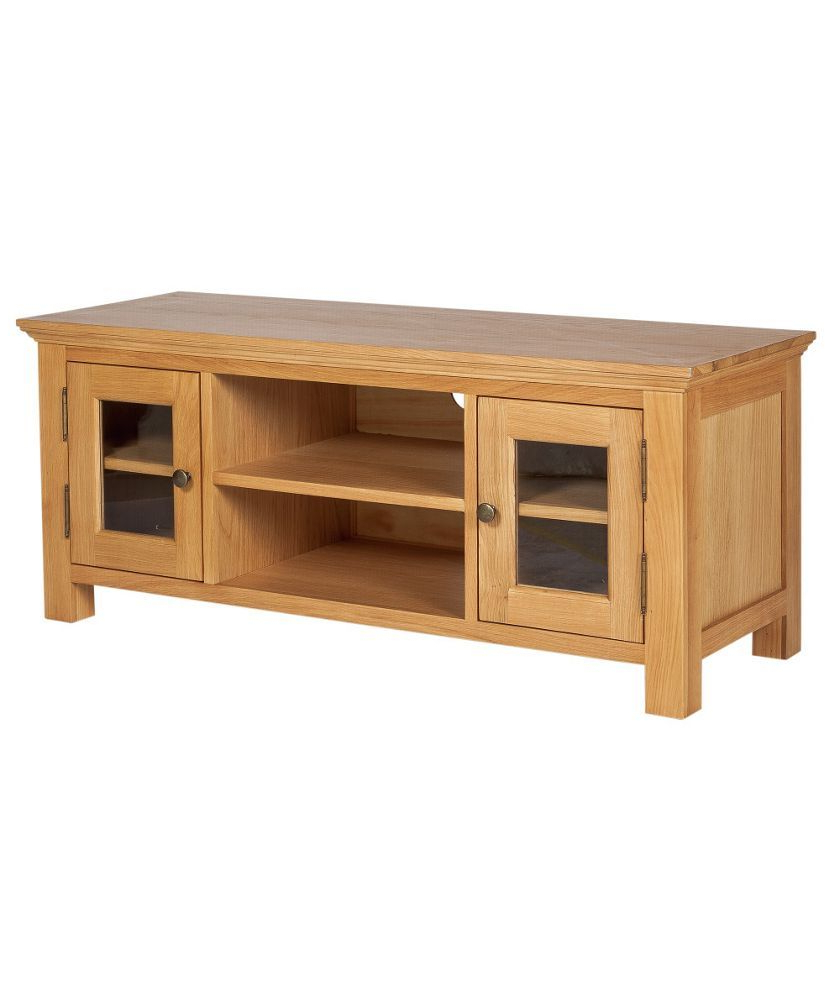 Oak Veneer Tv Stands Within Well Known Buy Westminster Large Tv Unit – Oak & Oak Veneer At Argos.co (View 17 of 20)