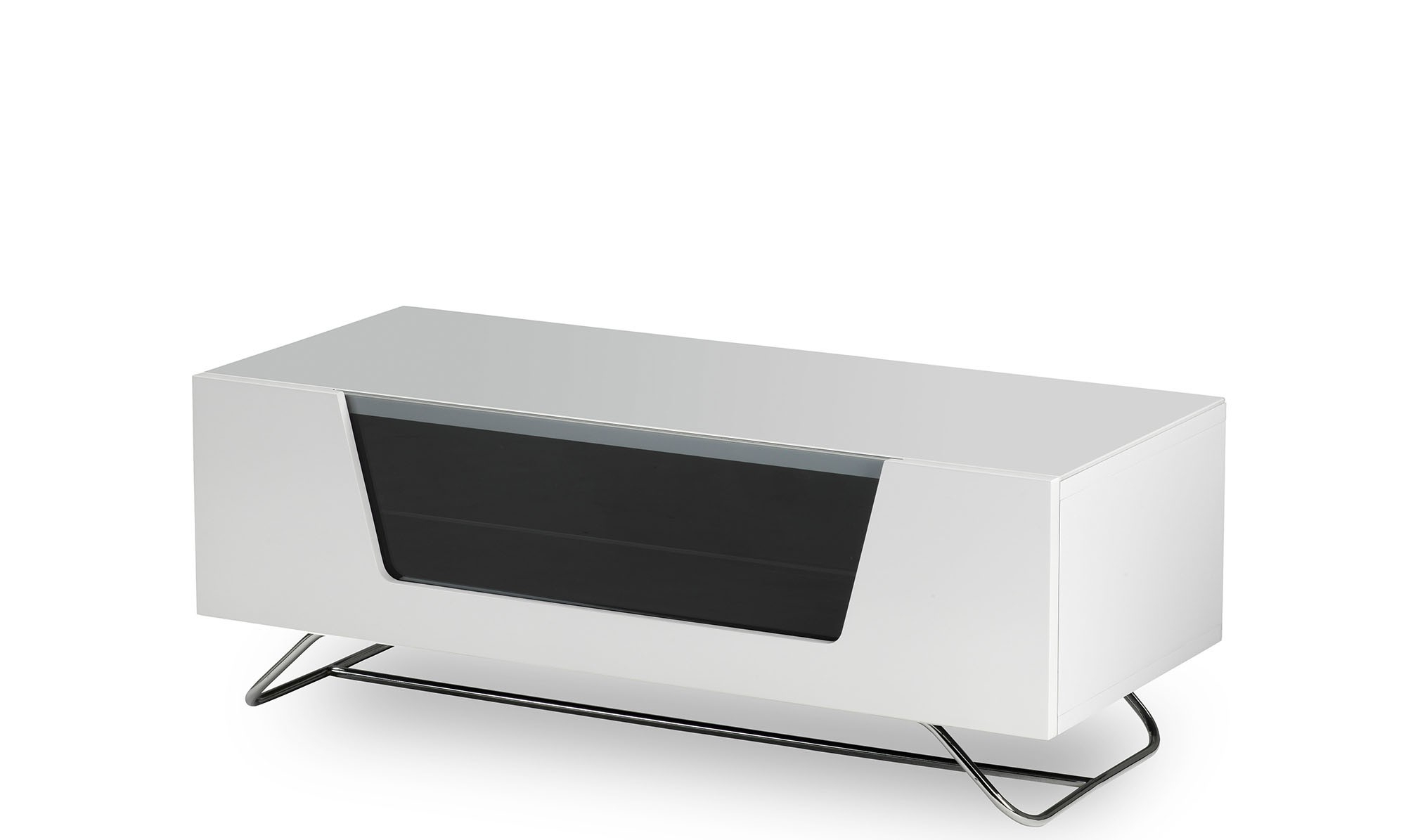 Omega – White High Gloss Tv Unit – Fishpools Throughout Trendy Gloss White Tv Stands (View 16 of 20)