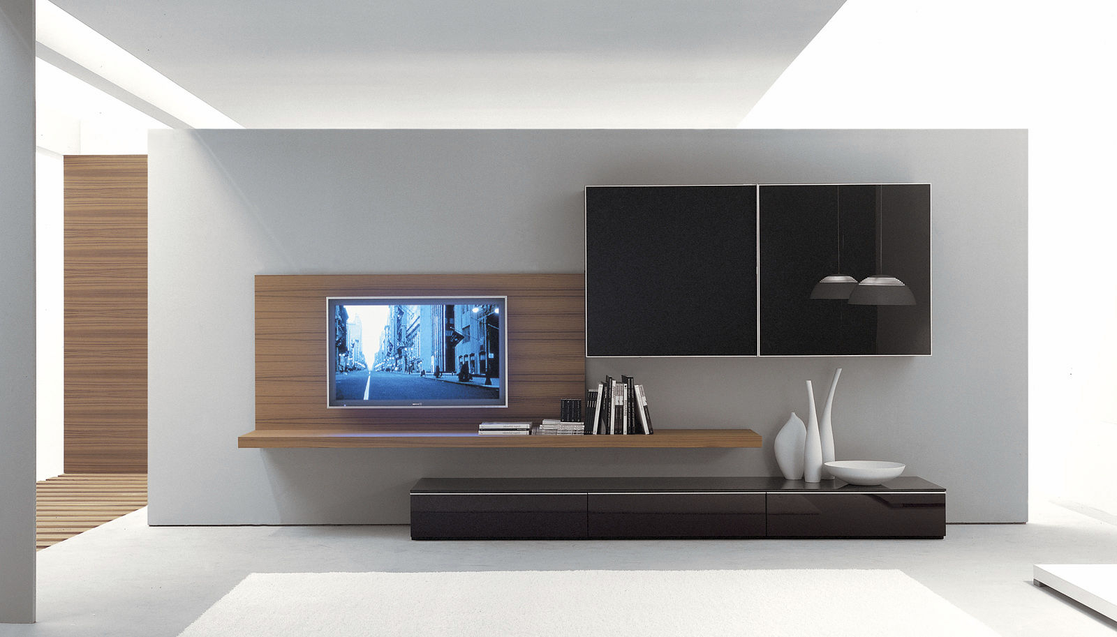 On The Wall Tv Units With Recent Wall Units: Astonishing Ideas On The Wall Tv Units Modern Tv Unit (Gallery 2 of 20)