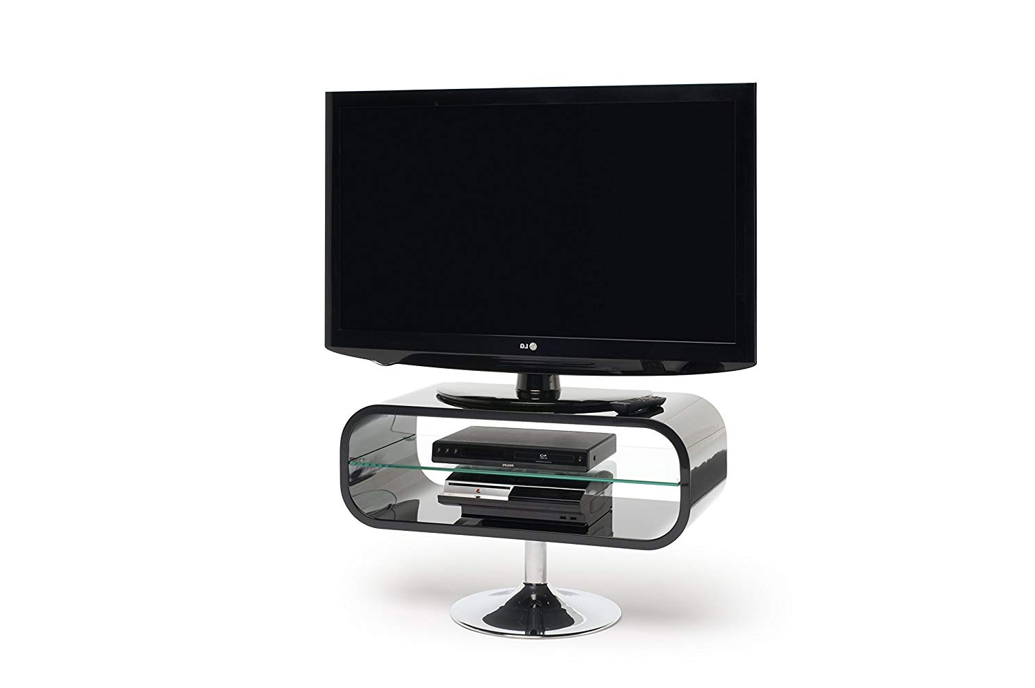 "Opod Op80B – Lcd & Plasma Tv Stand To 37"" – Gloss Black: Amazon (View 16 of 20)"