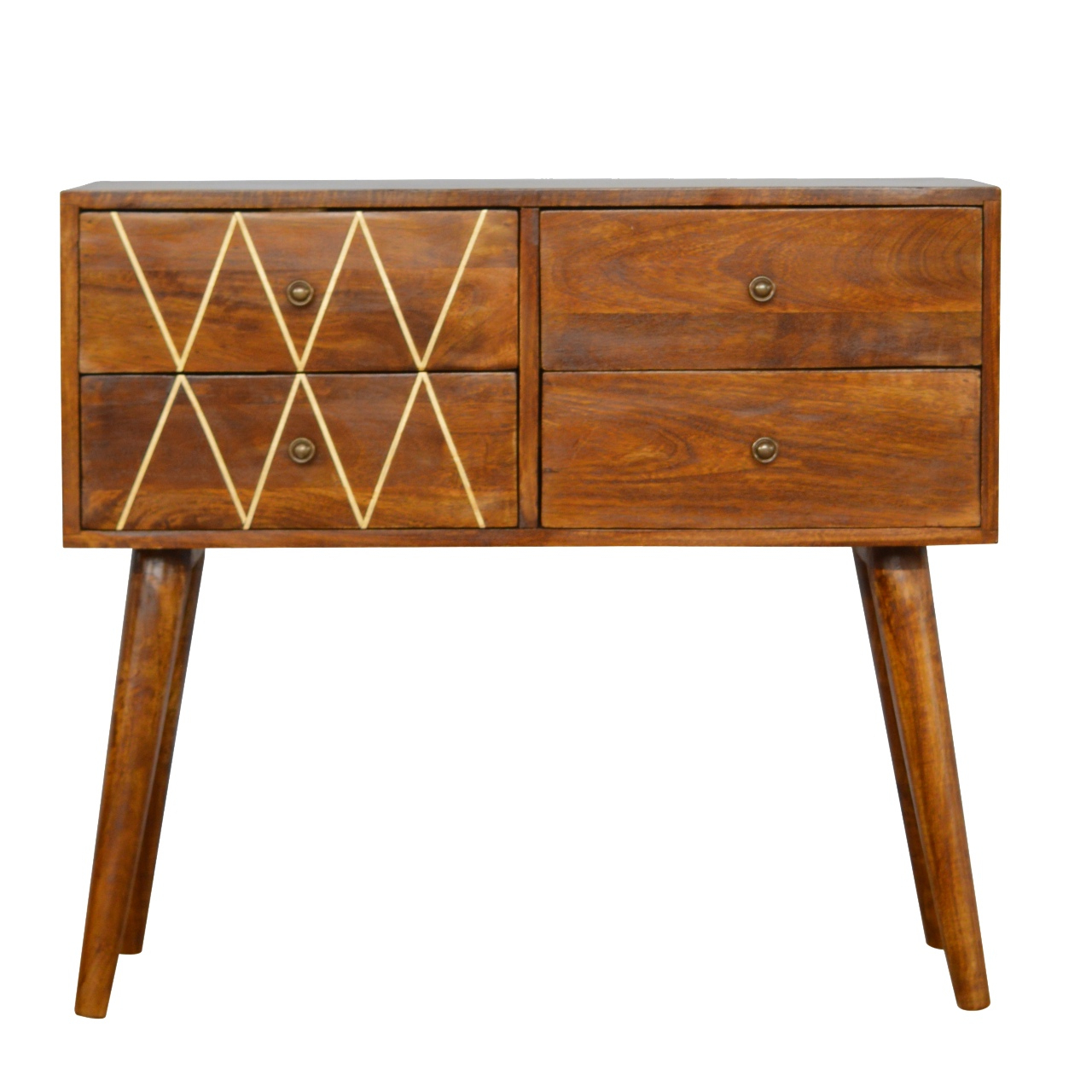 Orange Inlay Console Tables In Most Recently Released 4 Drawer Nordic Style Console Table With Brass Inlay – Oh Me Oh My (Gallery 8 of 20)