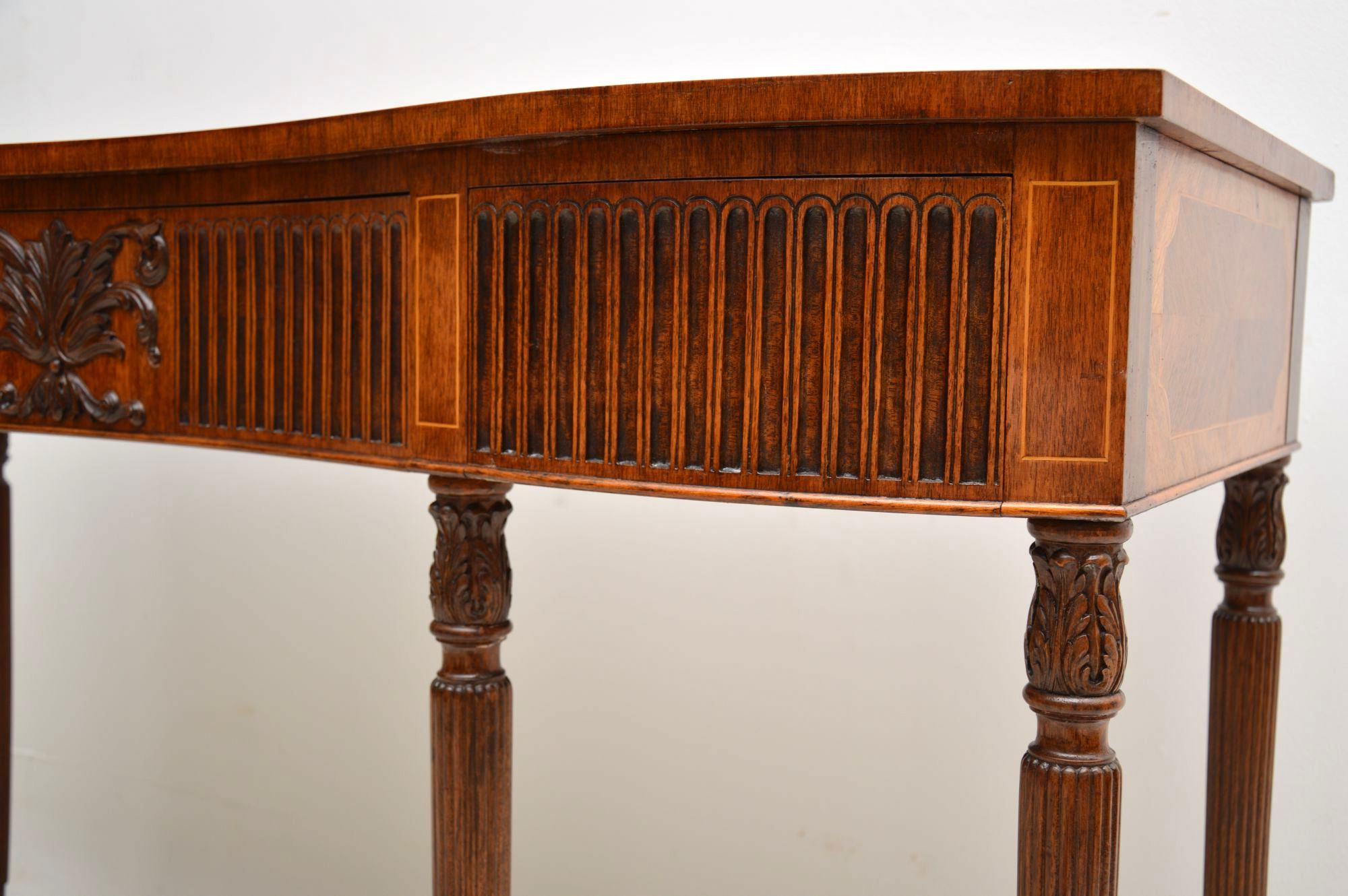 Orange Inlay Console Tables With Favorite Antique Inlaid Mahogany & Kingwood Server Console Table (View 14 of 20)