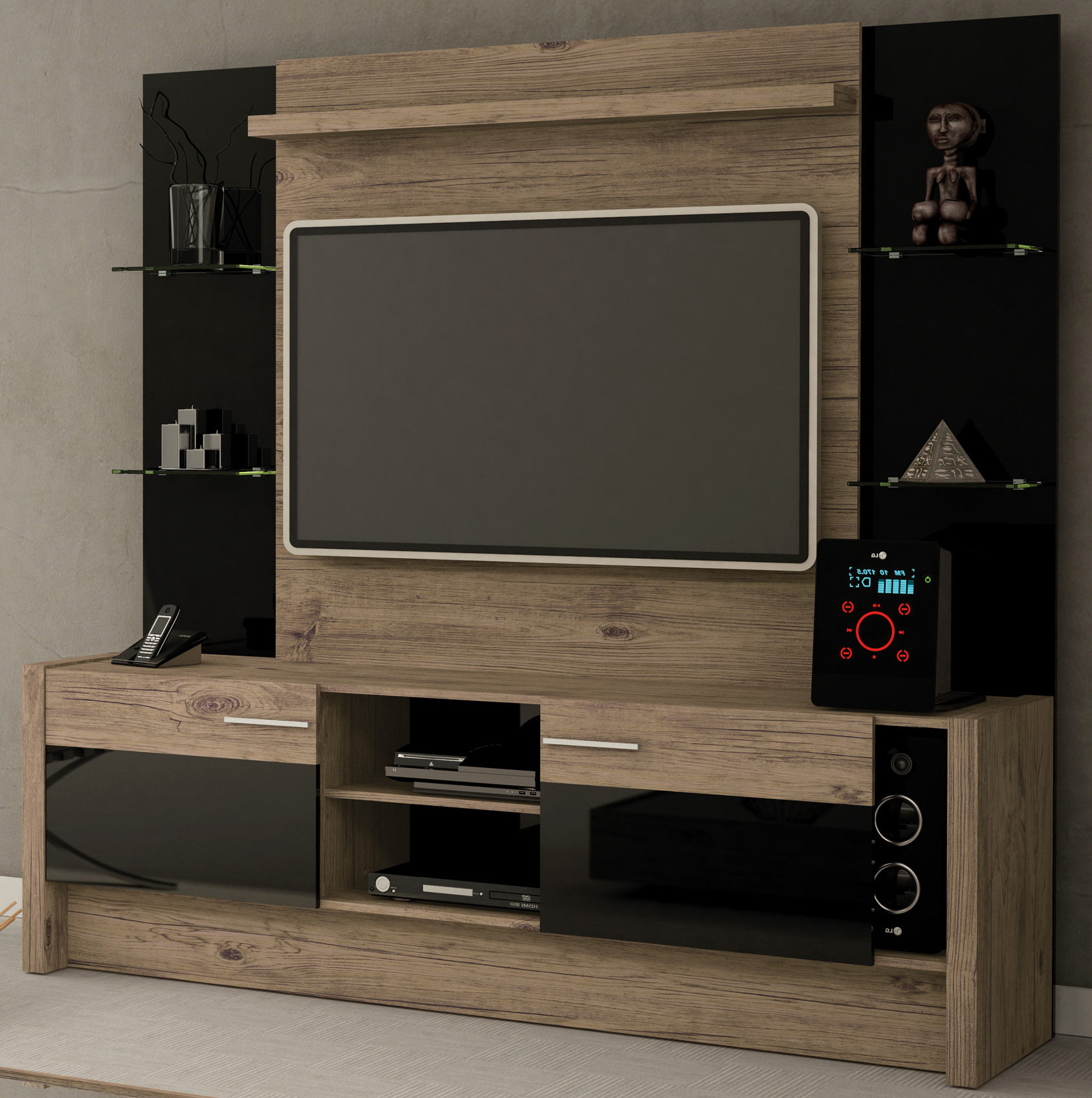 Over Tv Shelves Pertaining To Popular Entertainment Centers You'll Love (View 15 of 20)