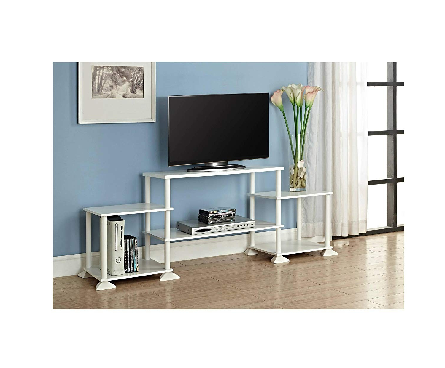 Ovid White Tv Stand Within Best And Newest Walmart White Tv Stands – Orderflovent (View 13 of 20)