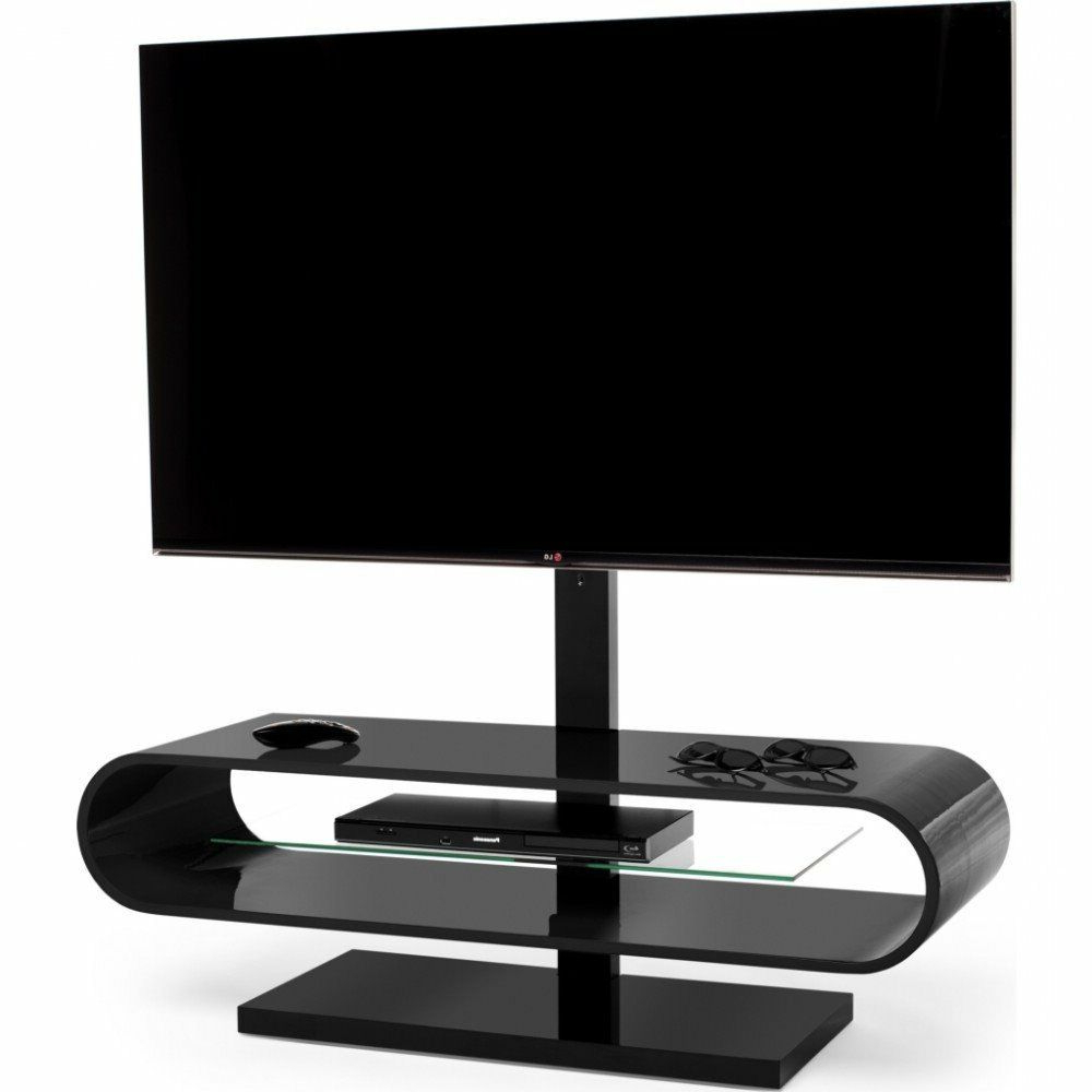 Ovid White Tv Stands For Best And Newest Techlink Ovid Tv Evo Ov120Tvb Black Tv Stand With Bracket (View 2 of 20)