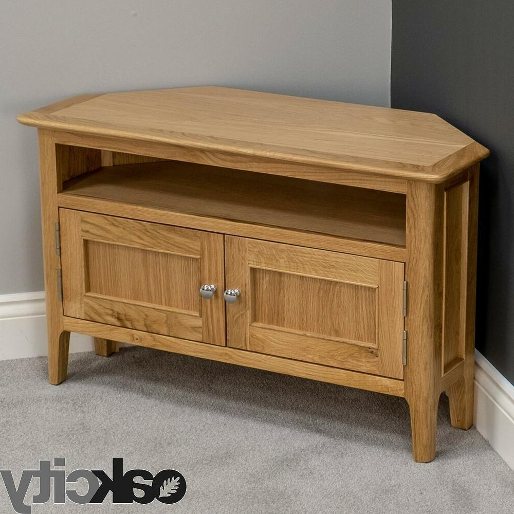 Oxford Oak Corner Tv Unit / Wooden Corner Tv Stand Cabinet Throughout Most Up To Date Wooden Corner Tv Units (View 12 of 20)