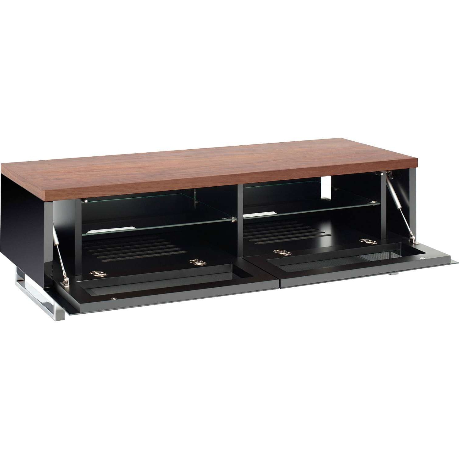 Panorama Tv Stands For Current Techlink Panorama Walnut Tv Stands (View 12 of 20)