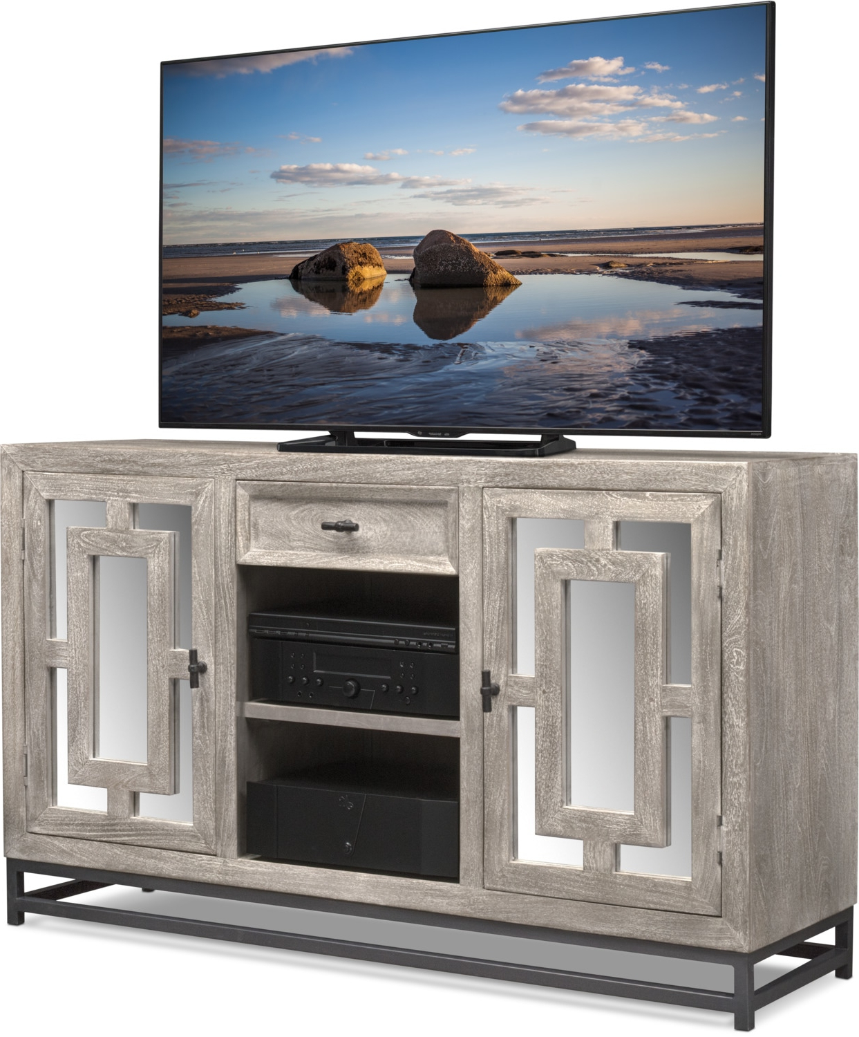 Parlor Tv Stand – Gray (View 12 of 20)