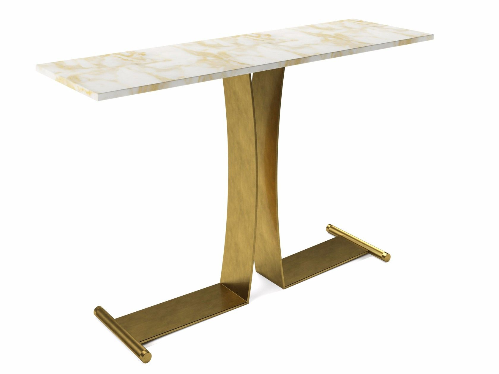 Parsons Black Marble Top & Brass Base 48X16 Console Tables In Widely Used Guy (Gallery 10 of 20)