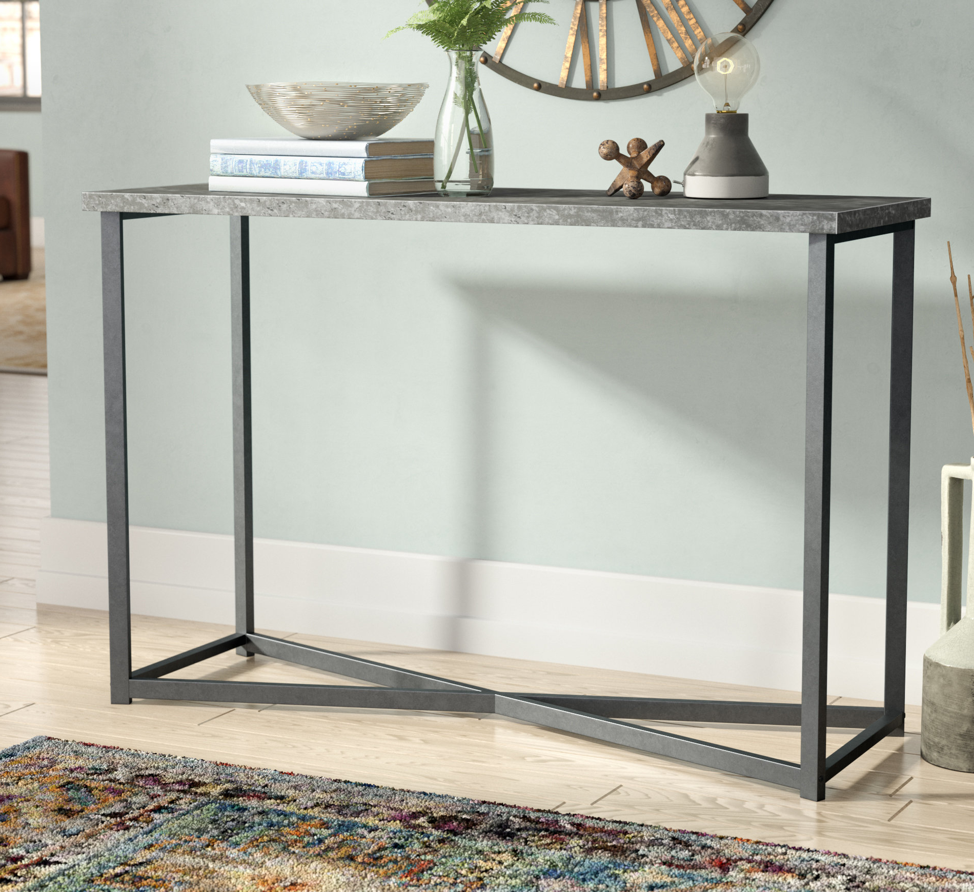 Parsons Clear Glass Top & Dark Steel Base 48X16 Console Tables With Regard To Latest Industrial Console Tables You'll Love (View 6 of 20)
