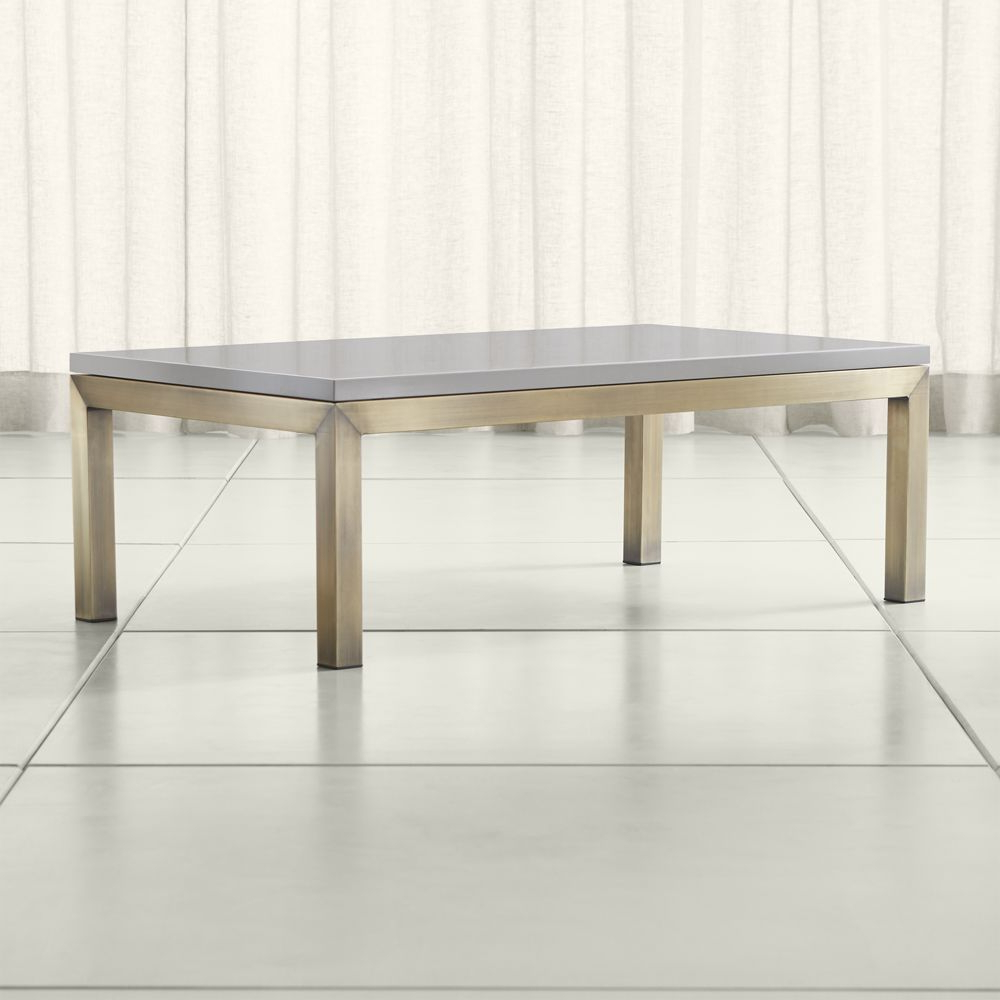 Parsons Grey Solid Surface Top/ Brass Base 48X28 Small Rectangular Within Recent Parsons Grey Marble Top & Brass Base 48X16 Console Tables (View 12 of 20)