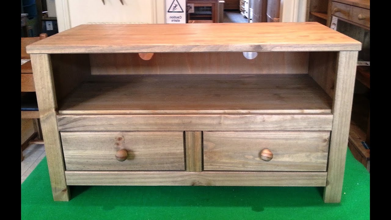 Pine Tv Cabinets Within Most Recent Tv Cabinets Edinburgh – Solid Pine Flat Pack Furniture Assembly (Gallery 6 of 20)