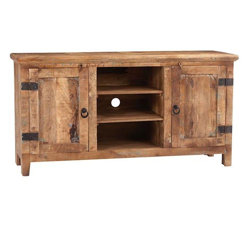 Pine Tv Stands Within Fashionable Home Decorators Collection Holbrook Natural Reclaimed Entertainment (Gallery 11 of 20)