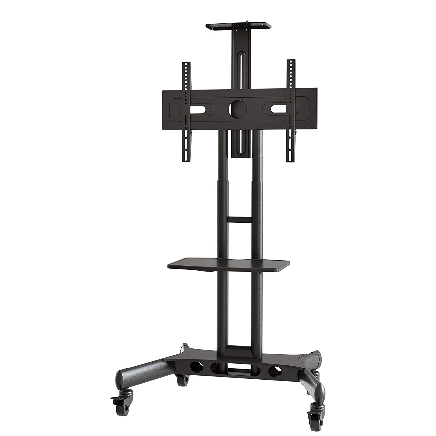 Plasma Tv Holders For Most Current Amazon: Mount Factory Rolling Tv Cart Mobile Tv Stand For 40 65 (Gallery 9 of 20)