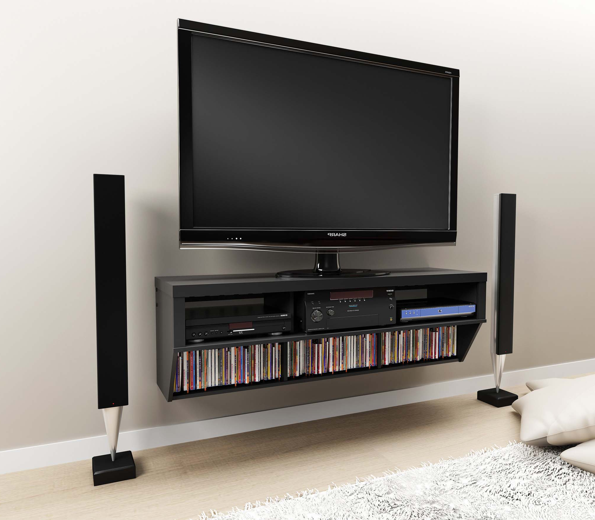 Plasma Tv Holders Throughout Most Up To Date Awesome Plasma Tv Portable Racks – Universal Tv Stand (Gallery 2 of 20)