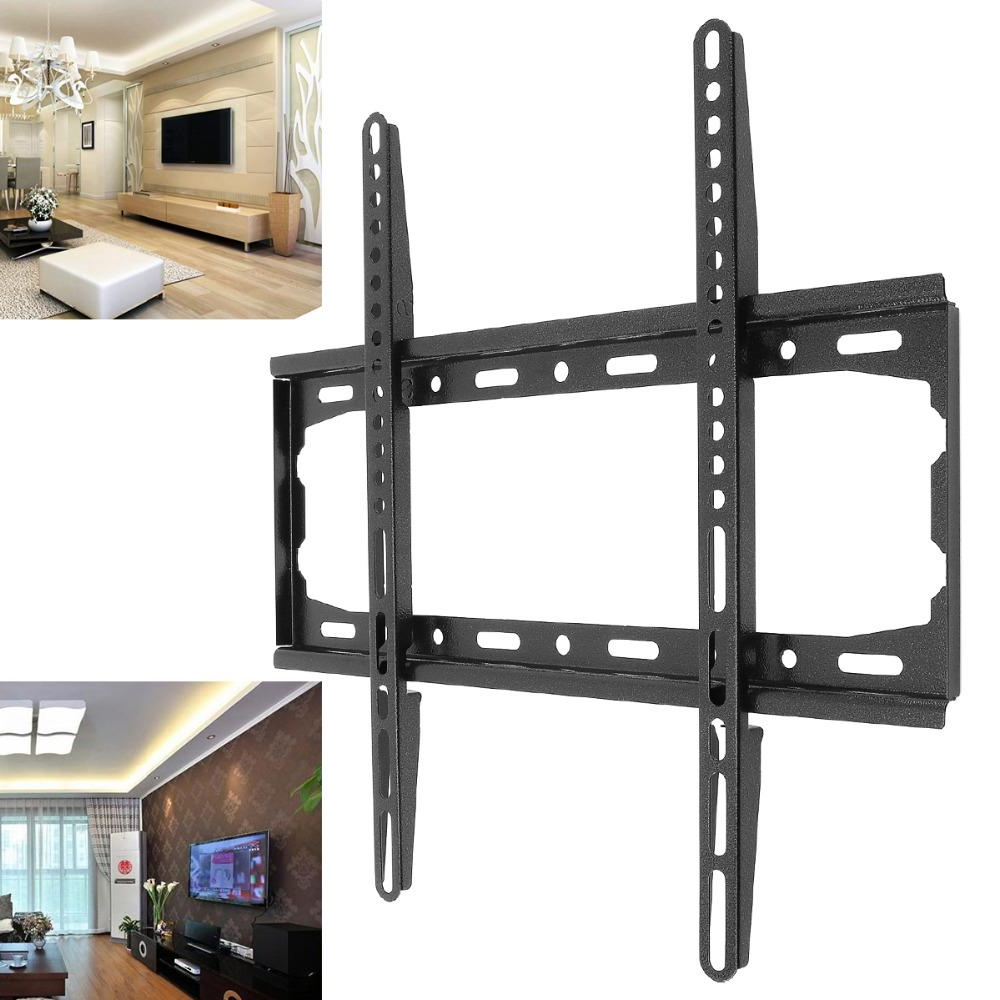 Plasma Tv Holders Throughout Well Liked Universal 50Kg Tv Wall Mount Bracket Fixed Flat Panel Tv Stand (Gallery 1 of 20)