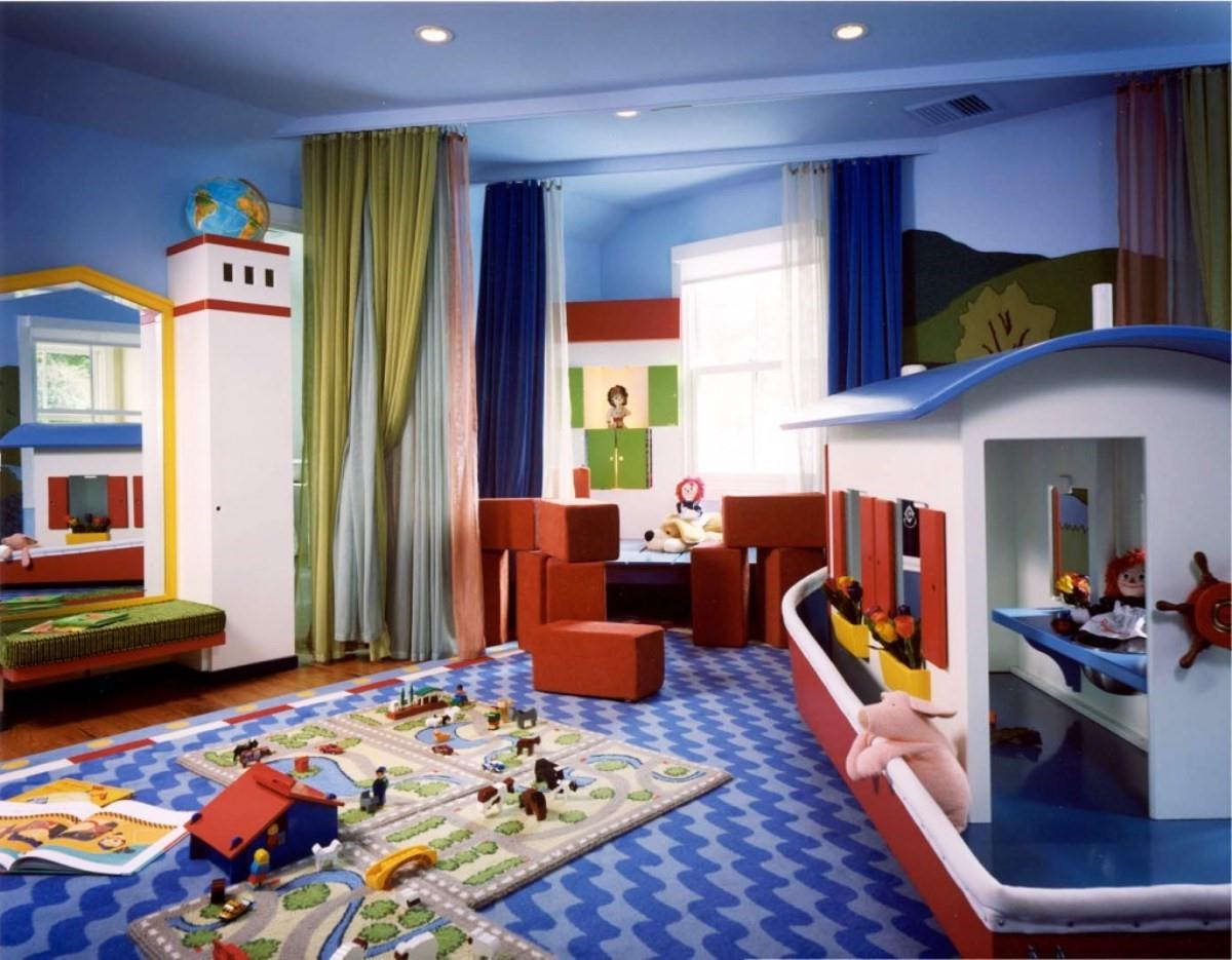 Playroom Tv Stands Inside Popular Decorations : Small Kids Playroom Decor With Cream Fluffy Carpet And (View 18 of 20)